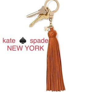 NEW IN BOX! KATE SPADE ♠️ leather tassel key fob